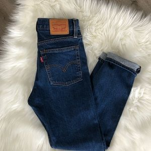 Levi's High Waisted Skinny Button Fly Jeans